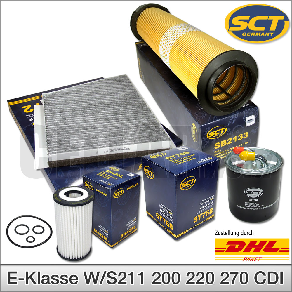 ÖLFILTER LUFTFILTER POLLENFILTER SCT GERMANY C-Klasse W203 C 200 220 270 CDI