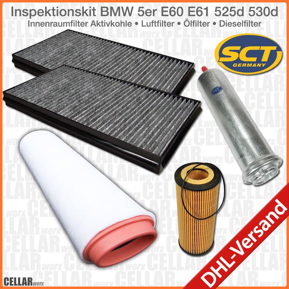 bmw 5 525d 530d e60 e61 sct germany filterset cabin air. Black Bedroom Furniture Sets. Home Design Ideas